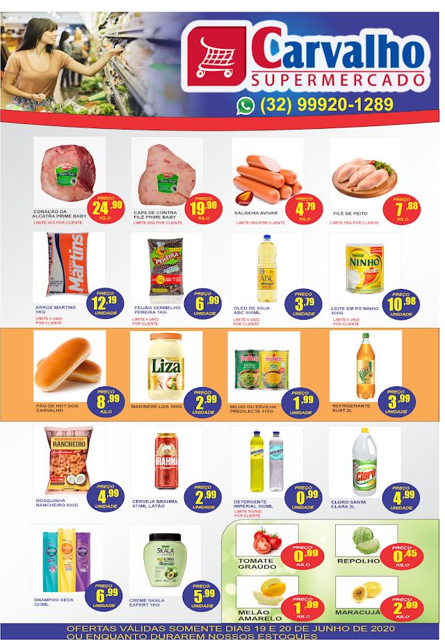 Economia Total: Confira as Ofertas do Carvalho Supermercado para sexta e sábado
