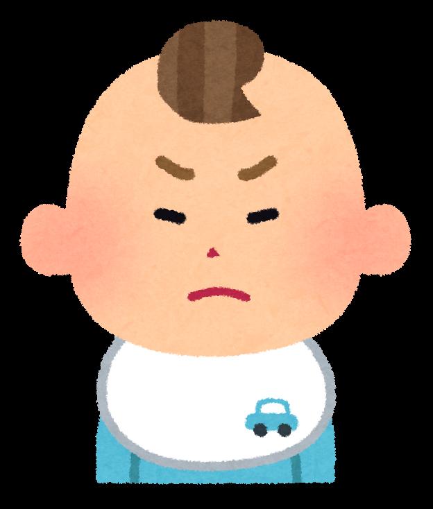 男の子の赤ちゃんの表情のイラスト笑顔怒った顔泣いた顔笑った顔
