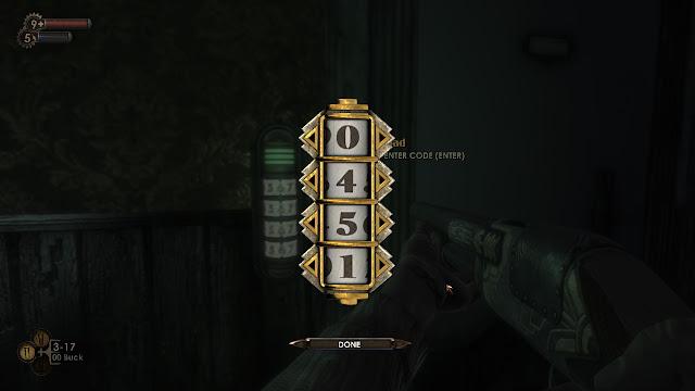 BioShock combination lock 0451 screenshot
