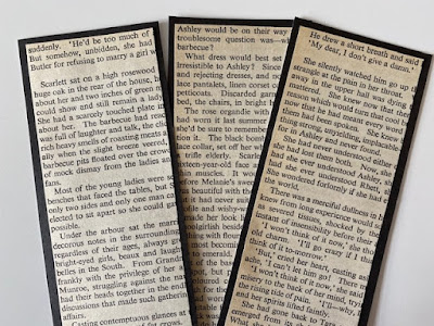 Making bookmarks from old book pages