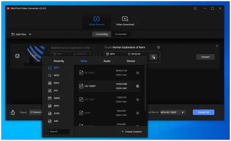 MiniTool Video Converter : Κορυφαία λύση μετατροπής  βίντεο σε πολλές μορφές