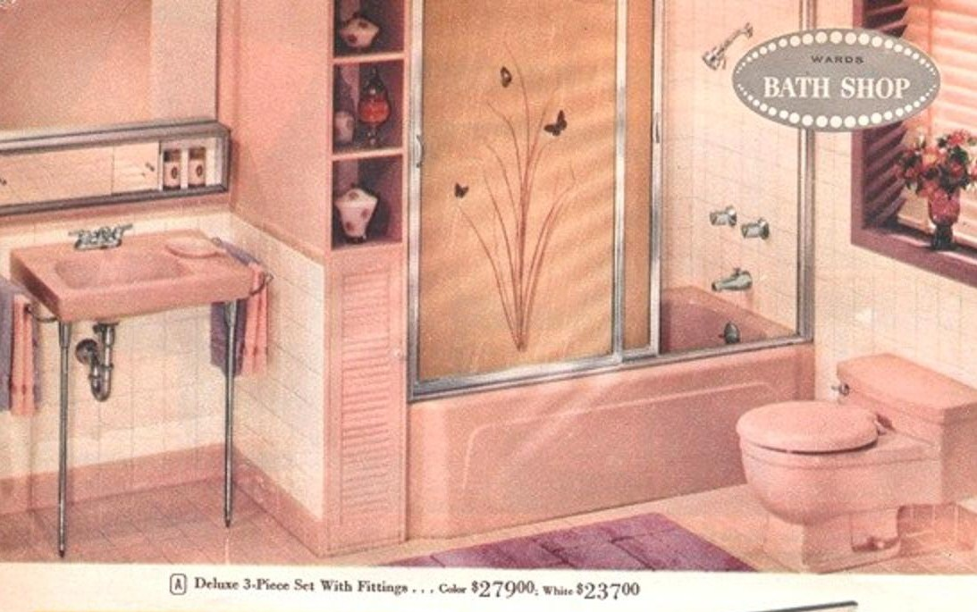 Pink Bathrooms.... The Vintage Years