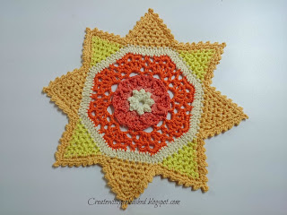 Colorful little crochet doilies, pattern by Patricia Kristoffersen