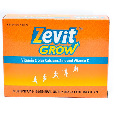 Info Suplemen Peninggi Badan Zevit Grow