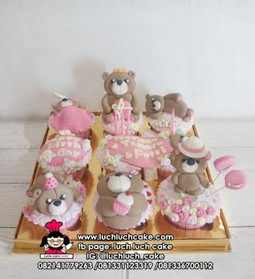Cupcake Teddy Bear Untuk Anak Cewek