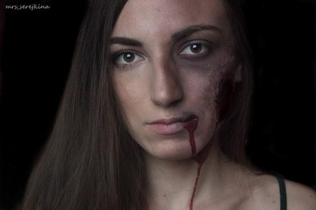 Halloween Make-Up: zombie/Макияж на Хэллоуин: зомби