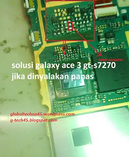 galaxy ace 3 gt-s7270 ketika dinyalakan panas