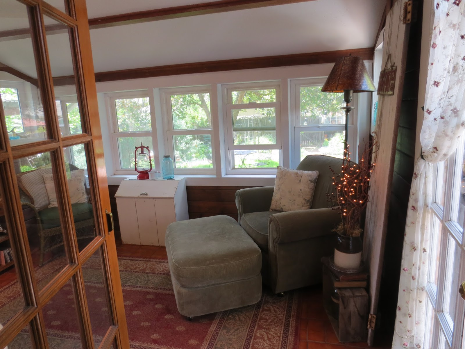French country style from the foot of the rockies changes for Farmhouse sunroom ideas