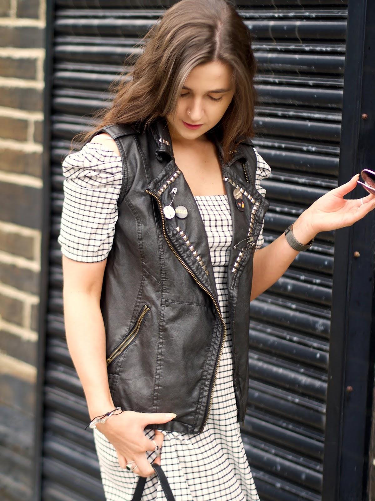 vintage leather gilet