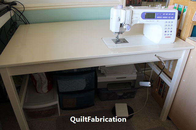 DIY Ikea Ingo sewing table with extra leg support