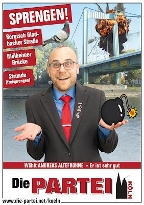 Wahlplakat 2020 Mülheim  Die PARTEI