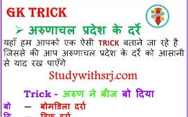 अरुणाचल प्रदेश के दर्रे (Arunachal Pradesh Passes) G K Tricks