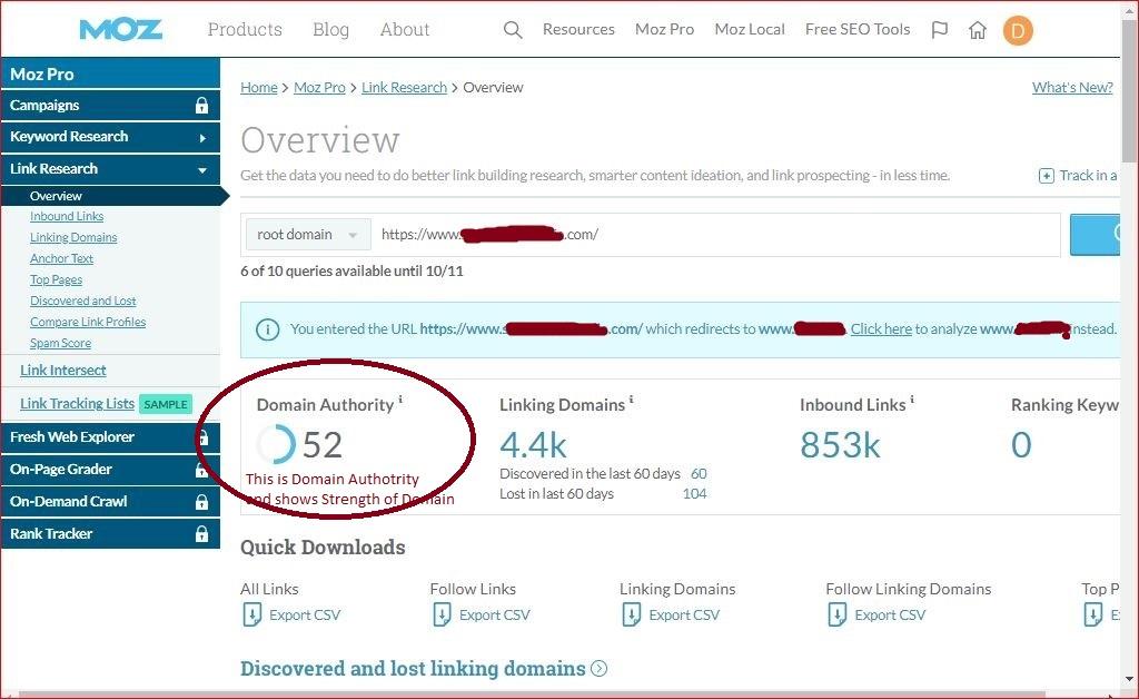 What is Domain Authority? | MOZ Domain Rank Checker | Domain Checker | deeanatech.com