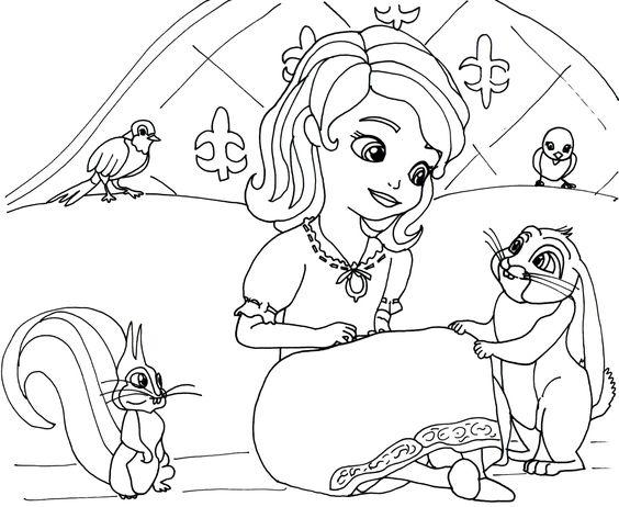 Tranh cho bé tô màu công chúa Sofia 7