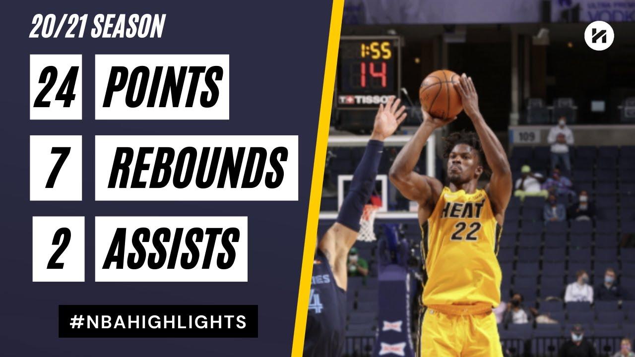 Jimmy Butler 24pts 7reb vs MEN | March 17, 2021 | 2020-21 NBA Season