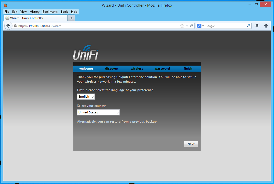 Go Wireless NZ Blog: Install UniFi Controller on airVision-C