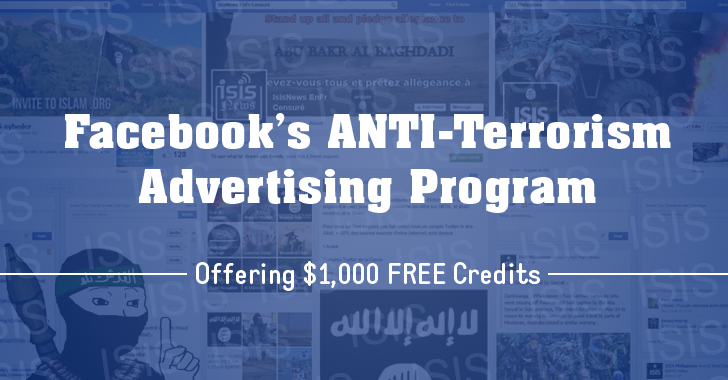 Facebook Offering $1,000 Credits If You Want to Run Advertisements Against ISIS and Terrorism