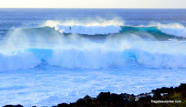 Surfe na Ilha de Páscoa