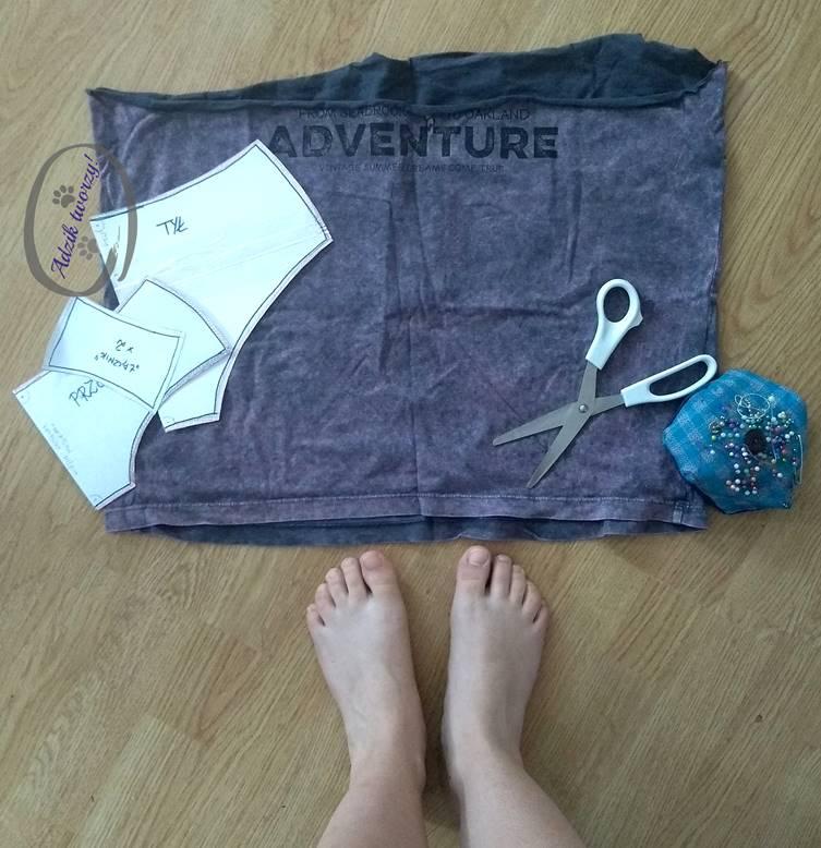 DIY: Majtki uszyte z materiału po t-shircie