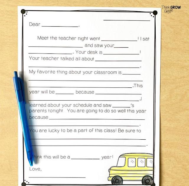 open house parent forms