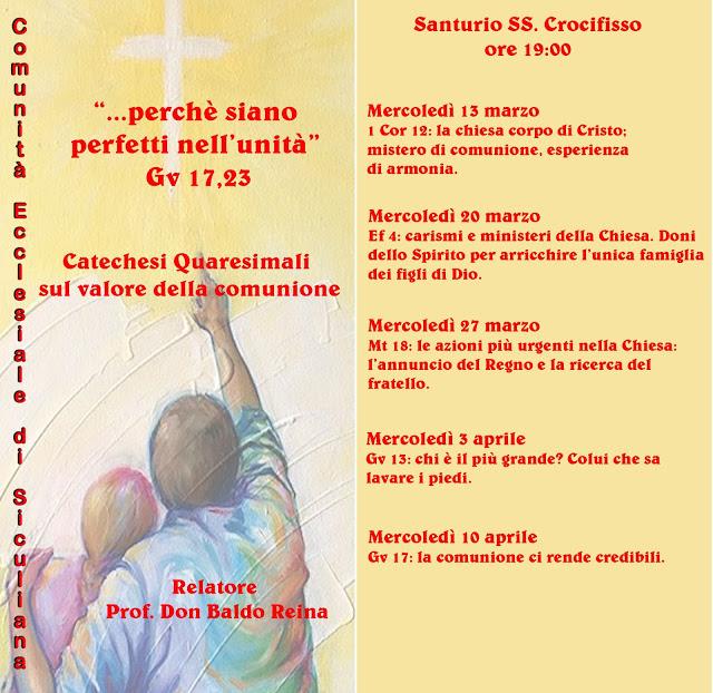 COMUNITA' ECCLESIALE - Catechesi Quaresimali