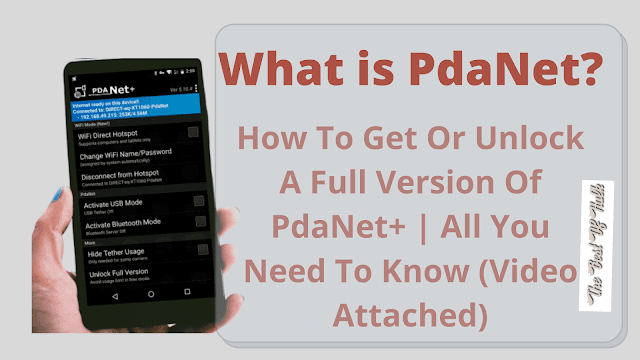 Unlock A Full Version Of PdaNet+