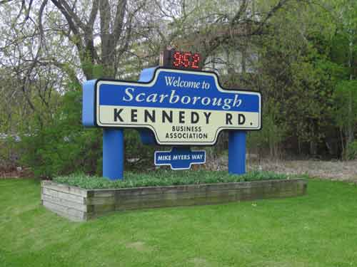 Kennedy Road Sign