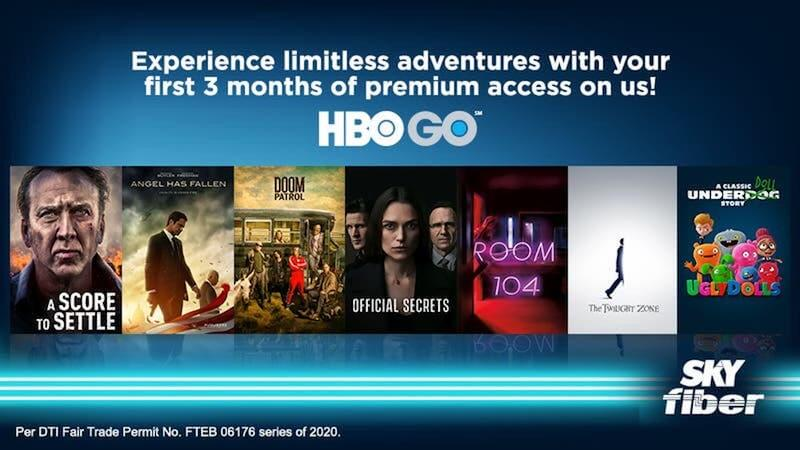 Get FREE 3-month access to HBO GO with SKY Fiber's latest promo