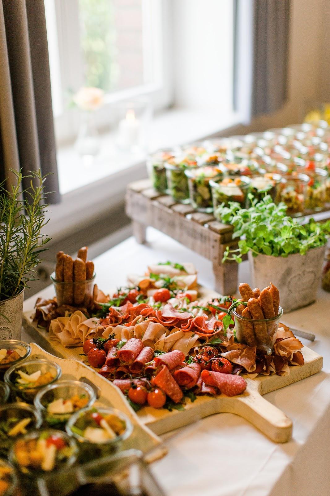 Catering Buffet für eine Hochzeit Mediterran