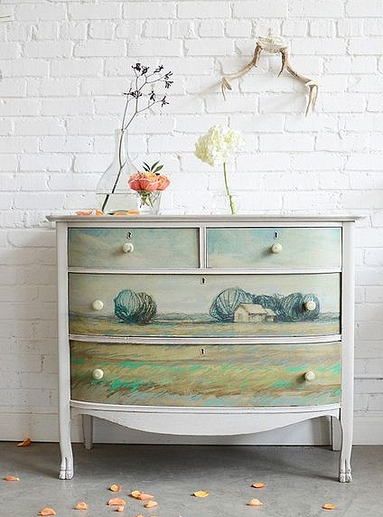 Beautiful dresser makeover by Barb Blair