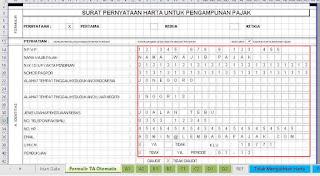 formulir tax amnesty 2016 / formulir pengampunan pajak