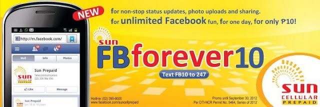 Sun FBforever10 Promo