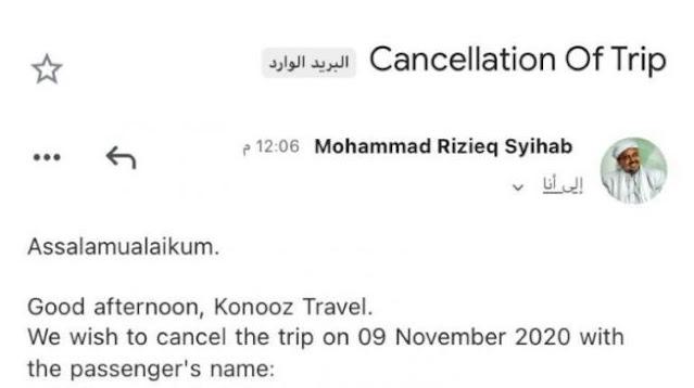 FPI Marah Ada Email Palsu Minta Pembatalan Tiket Pulang Habib Rizieq: Ini Kriminal!