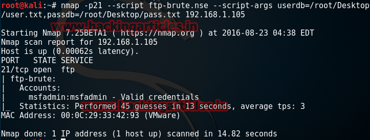Password Cracking using Nmap