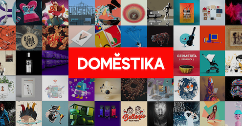 Logo o foto de encabezado de los Cursos de Domestika, la mayor plataforma de cursos online para creativos de la red en Internet