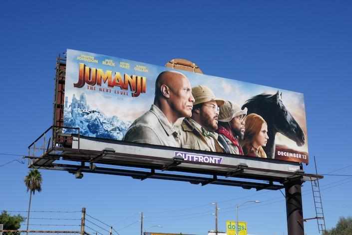 Jumanji Next Level film billboard