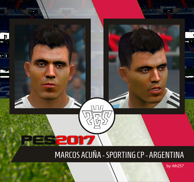 PES 2017 Marcos Acuña (Sporting CP) Face By RKH257