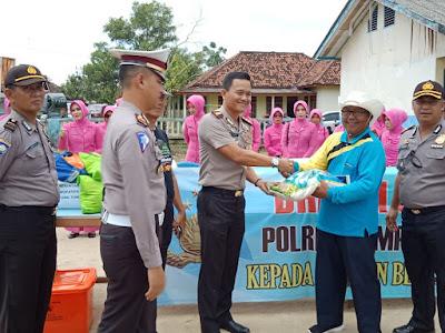 Polres Lampung Timur Gelar Bakti Sosial di Tanjung Tirto Way Bungur