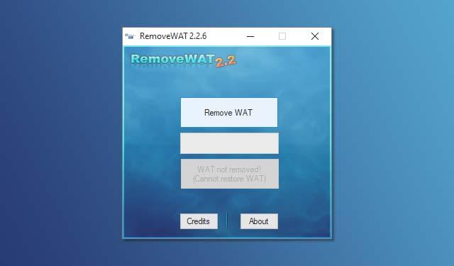 RemoveWAT Menghilangkan Activate Windows 10