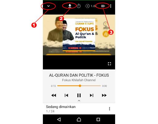 Cara dengar suara Saja di Youtube