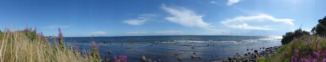 Schweden Urlaub Anreise Camping Urlaub mit Hund Ystad Meer Küste Entspannung Ankommen Panorama