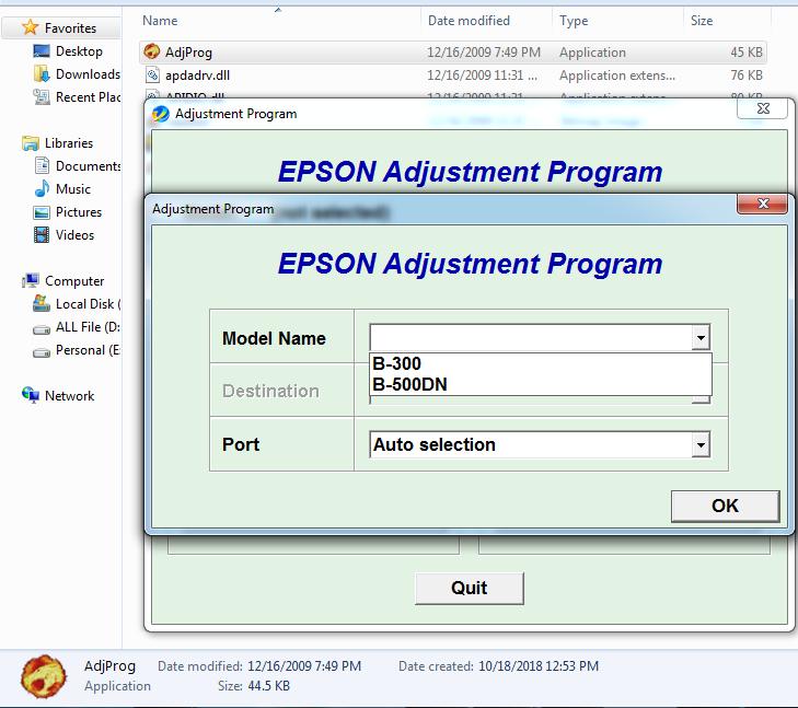 Epson B-500DN Resetter