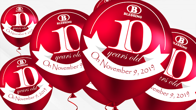 BLESSING CELEBRATES 10 YEARS OF EXISTENCE