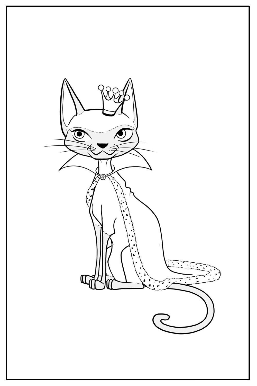 Download Wallpaper Coloriage chat princesse