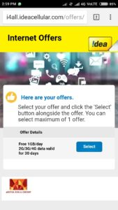 Idea Free Data Loot- Free 30 GB 4G Internet Instantly
