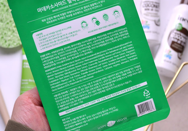 happy vegan madecassoside ingredients list