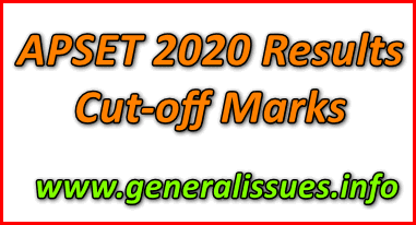 APSET 2020 Results-Cut-off Marks