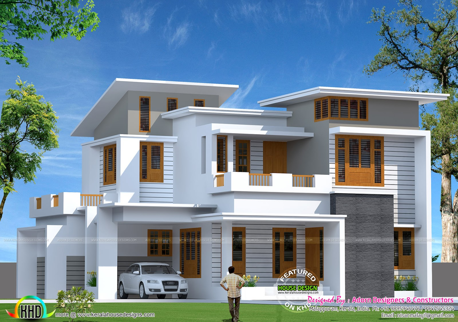 1800sqft mixed roof kerala house design kerala house 1800 for Modern house plans for 1600 sq ft