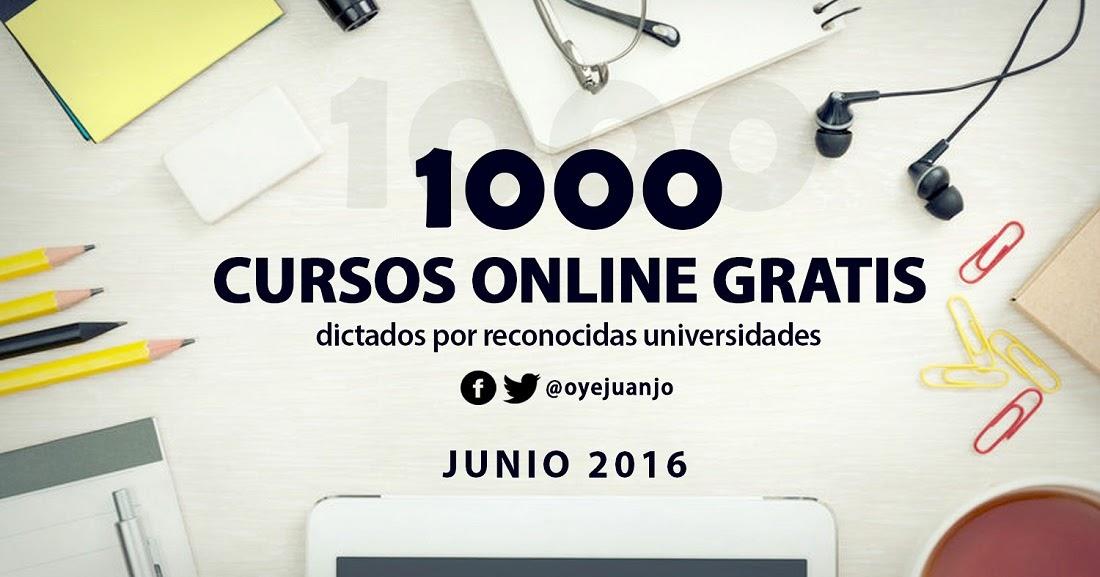 1000 cursos universitarios online gratis junio 2016 for Cursos de cocina gratis por internet