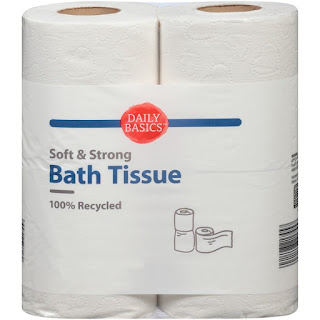 A stock image of Daily Basics Soft & Strong Bath Tissue, from Aldi
